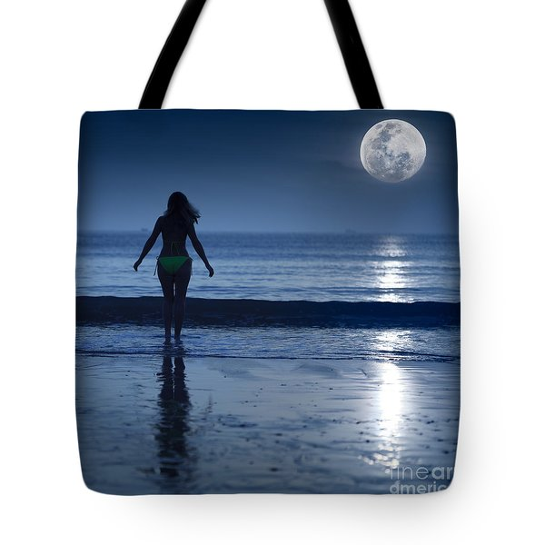 Moonlight Tote Bag by MotHaiBaPhoto Prints