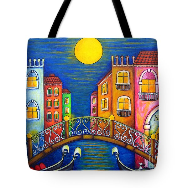 Moonlit Venice Tote Bag by Lisa  Lorenz