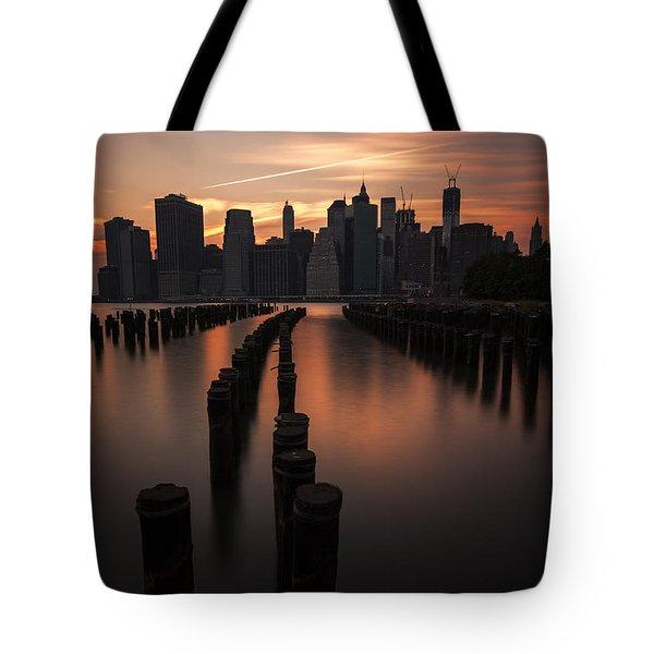 Mooring Eve Tote Bag by Andrew Paranavitana