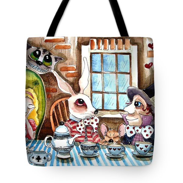 More Tea Tote Bag by Lucia Stewart
