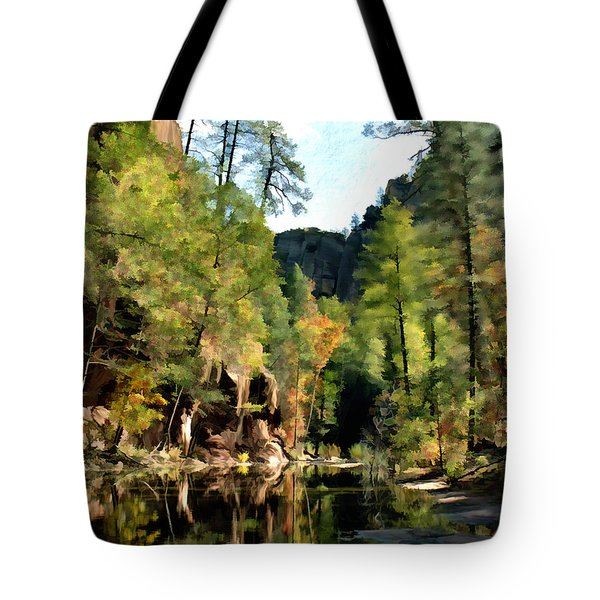 Morning at Oak Creek Arizona Tote Bag by Kurt Van Wagner