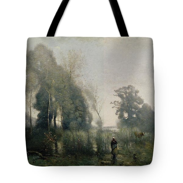 Morning At Ville Davray Tote Bag by Jean Baptiste Camille Corot