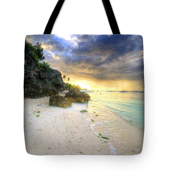 Morning Glow Tote Bag by Yhun Suarez