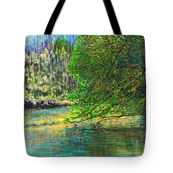 Morning In The Glen Tote Bag by Thomas Michael Meddaugh