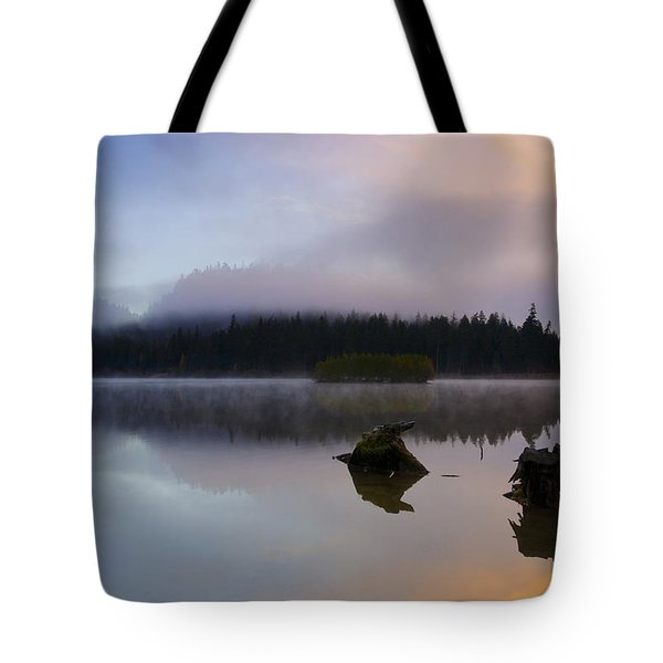 Morning Mist Burning Tote Bag by Mike  Dawson