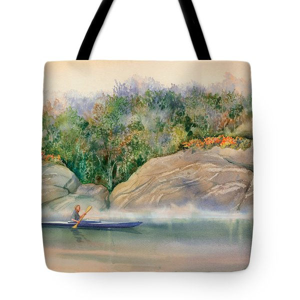 Morning Mist High Island Tote Bag by Marguerite Chadwick-Juner