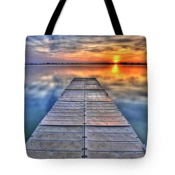 Morning Sky Tote Bag by Scott Mahon
