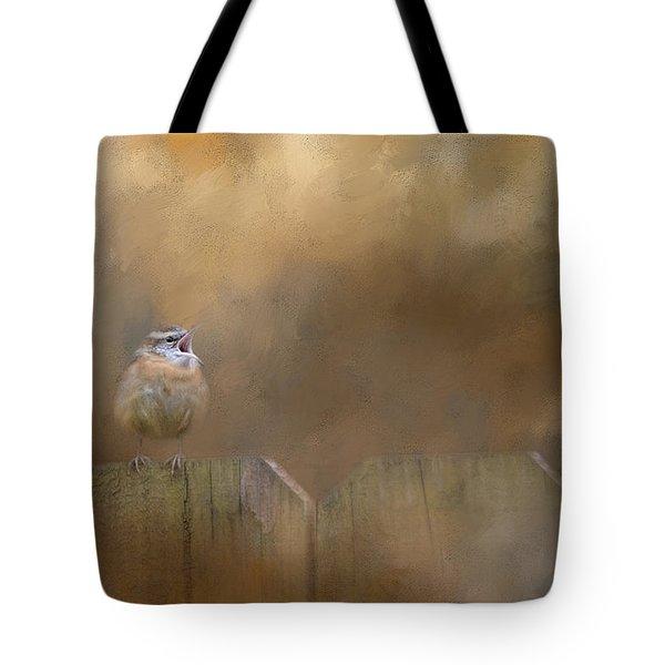 Morning Song Tote Bag by Jai Johnson