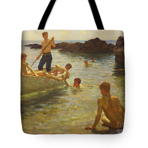 Morning Splendour Tote Bag by Henry Scott Tuke