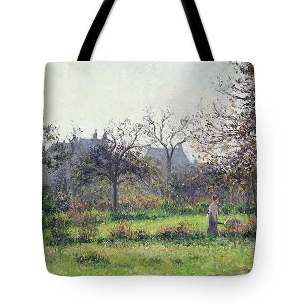 Morning Sun Tote Bag by Camille Pissarro