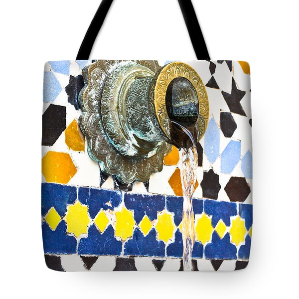 Moroccan tap Tote Bag by Tom Gowanlock