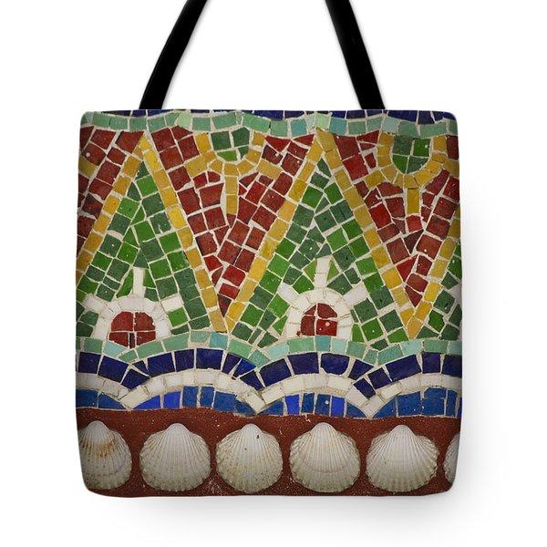 Mosaic Fountain Pattern Detail 4 Tote Bag by Teresa Mucha