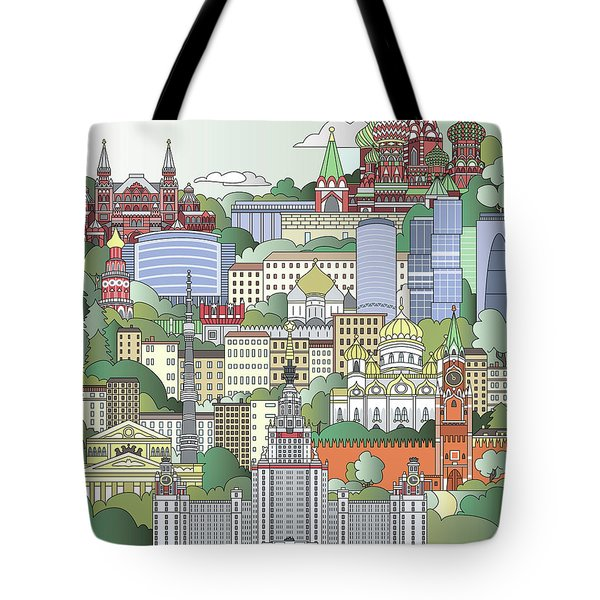 Moscow City Poster Tote Bag by Pablo Romero