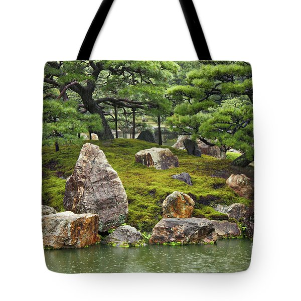 Mossy Japanese Garden Tote Bag by Carol Groenen