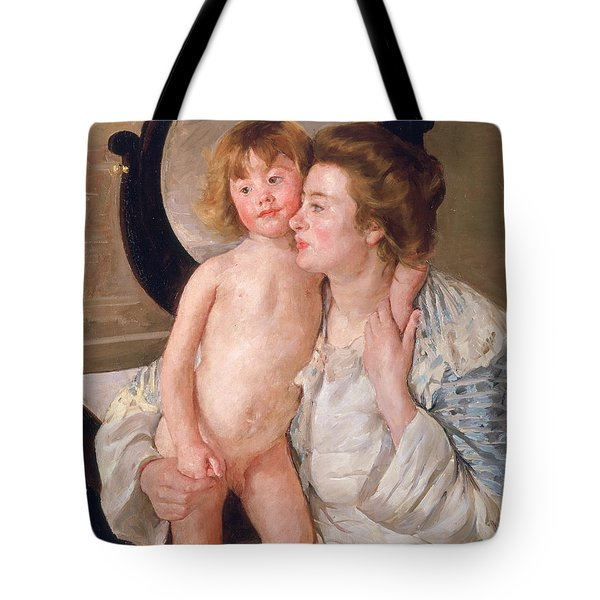 Mother And Boy Tote Bag by Mary Stevenson Cassatt