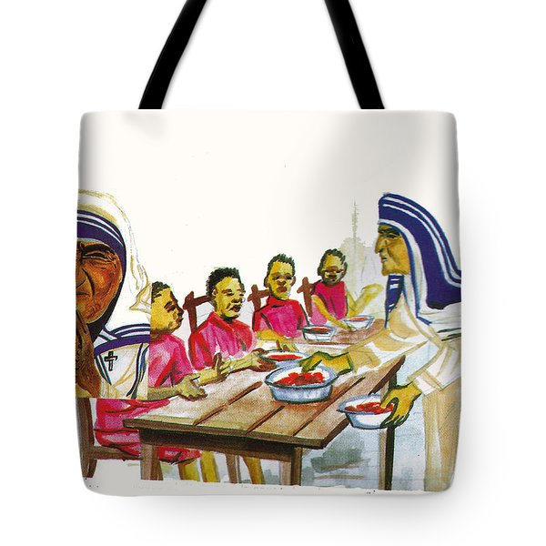 Mother Teresa Tote Bag by Emmanuel Baliyanga
