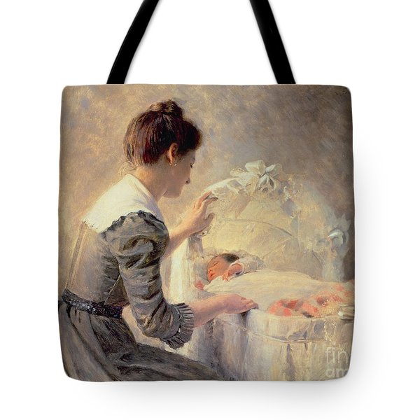 Motherhood Tote Bag by Louis Emile Adan