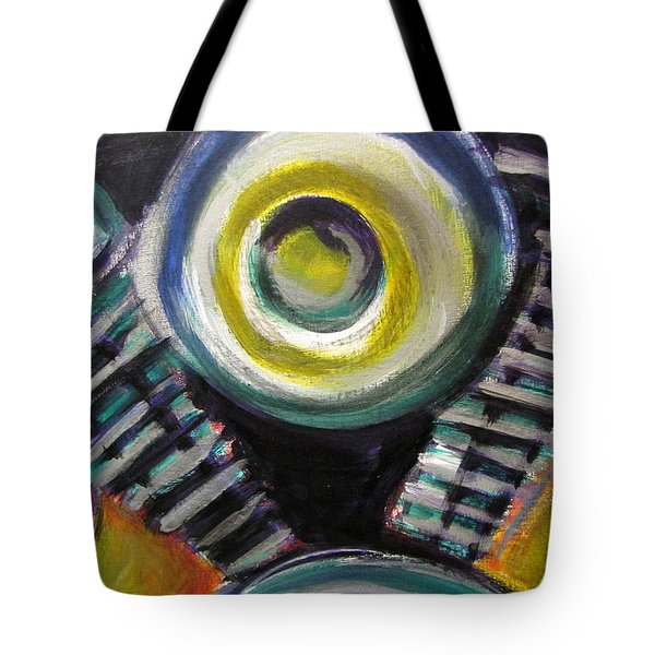 Motorcycle Abstract Engine 2 Tote Bag by Anita Burgermeister