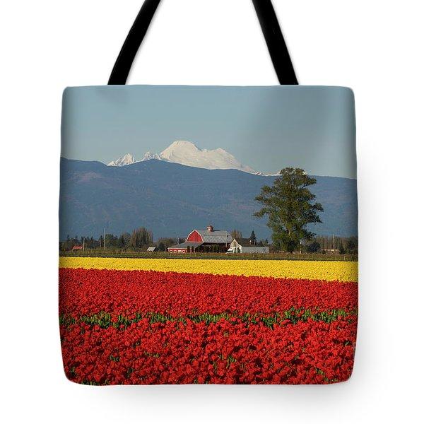 Mount Baker Skagit Valley Tulip Festival Barn Tote Bag by Mike Reid