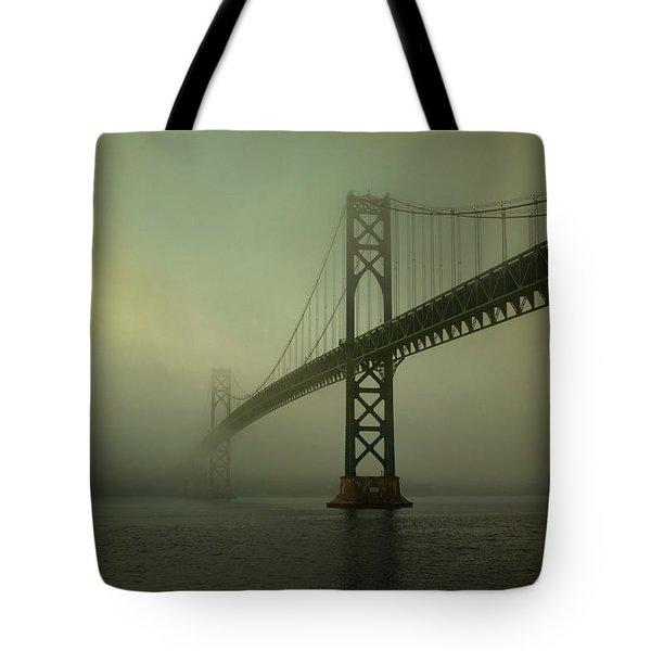 Mount Hope Bridge Tote Bag by Dave Gordon