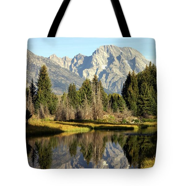 Mount Moran Reflections Tote Bag by Marty Koch