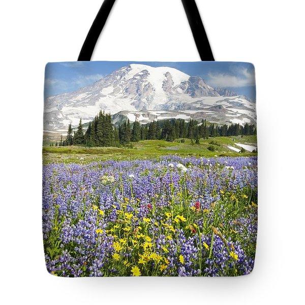Mount Rainier National Park Tote Bag by Craig Tuttle