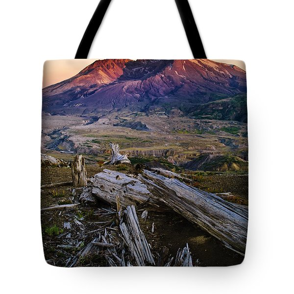 Mount St. Helens Sunset Tote Bag by Greg Vaughn - Printscapes