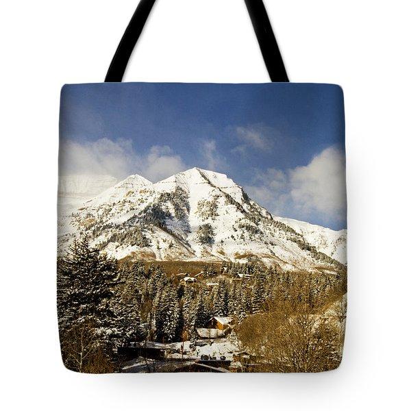 Mount Timpanogos Tote Bag by Scott Pellegrin