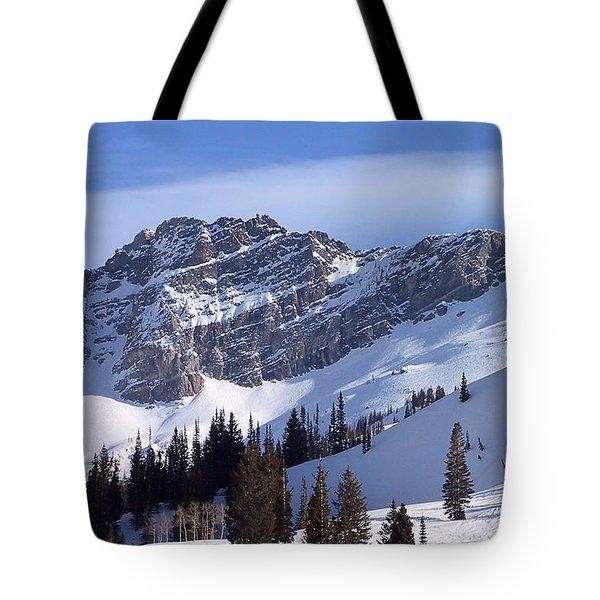 Mountain High - Salt Lake Ut Tote Bag by Christine Till