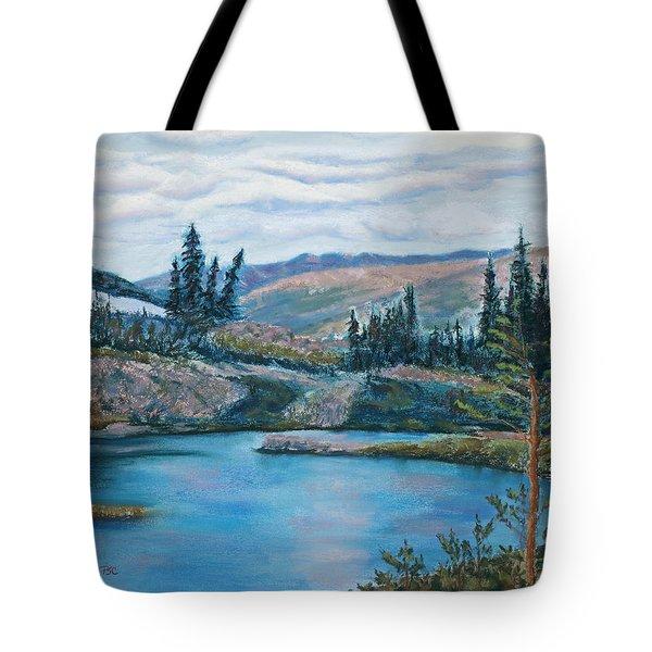 Mountain Lake Tote Bag by Mary Benke