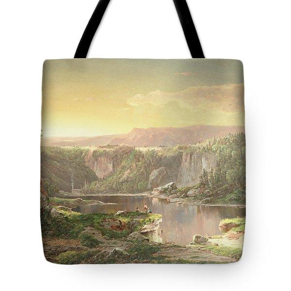Mountain Lake Near Piedmont Tote Bag by William Sonntag