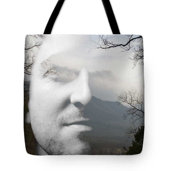 Mountain Man Tote Bag by Christopher Gaston