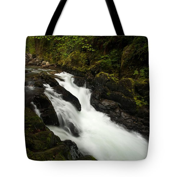 Mountain Stream Tote Bag by Mike Reid