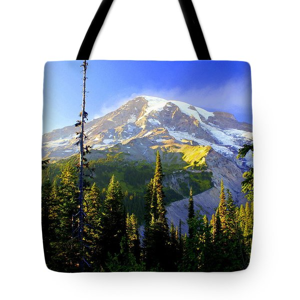 Mountain Sunset Tote Bag by Marty Koch