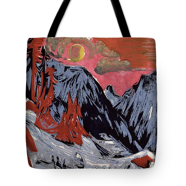 Mountains In Winter Painting By Ernst Ludwig Kirchner