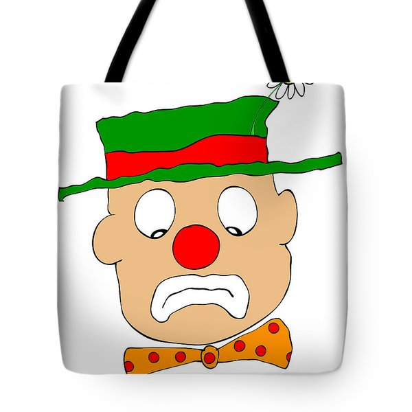 Mournful Clown Tote Bag by Michal Boubin