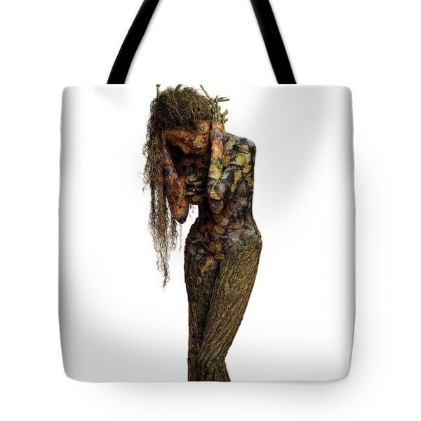 Mourning Moss A Sculpture By Adam Long Tote Bag by Adam Long