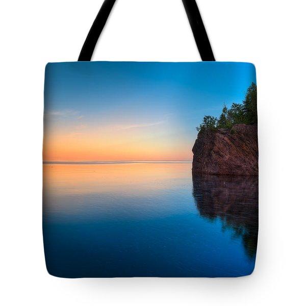 Mouth Of The Baptism River Minnesota Tote Bag by Steve Gadomski