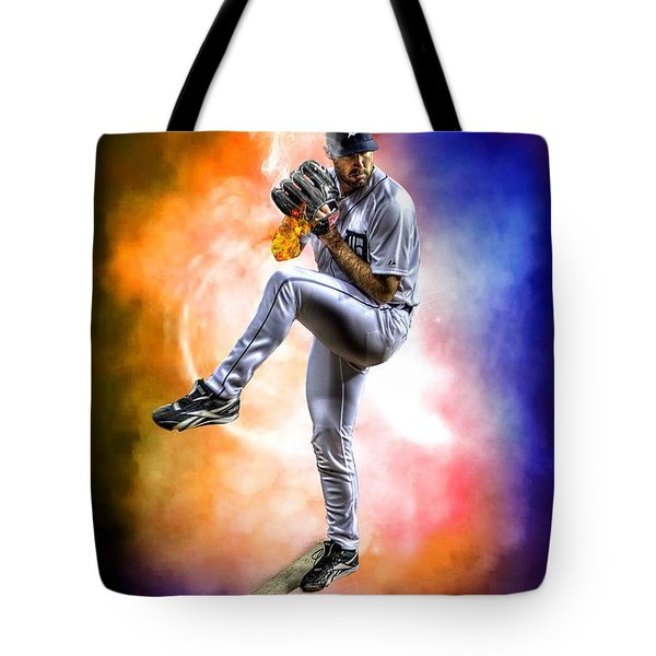 Mr. Justin Verlander Tote Bag by Nicholas  Grunas