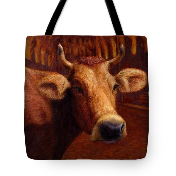 Mrs. O'leary's Cow Tote Bag by James W Johnson
