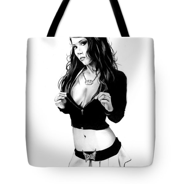 Ms. Tapout Tote Bag by Pete Tapang