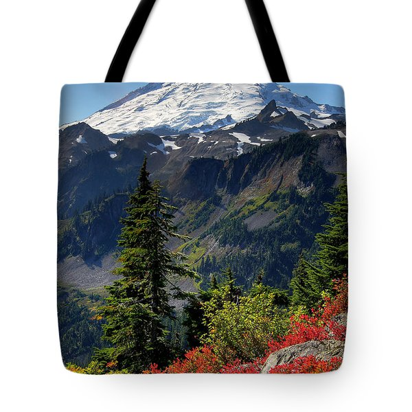 Mt. Baker Autumn Tote Bag by Winston Rockwell