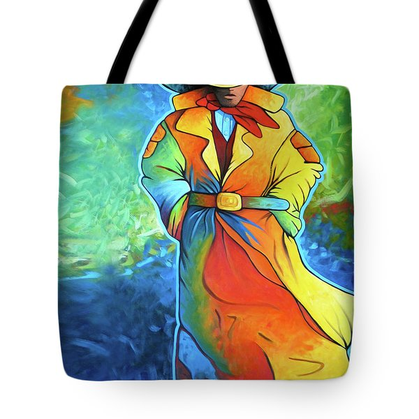 Multi Color Cowboy Tote Bag by Lance Headlee