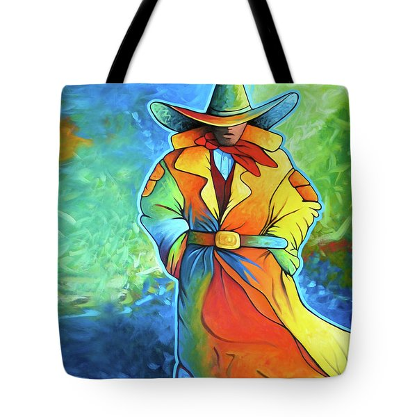 Multi Color Cowboy Tote Bag by Lance Headlee