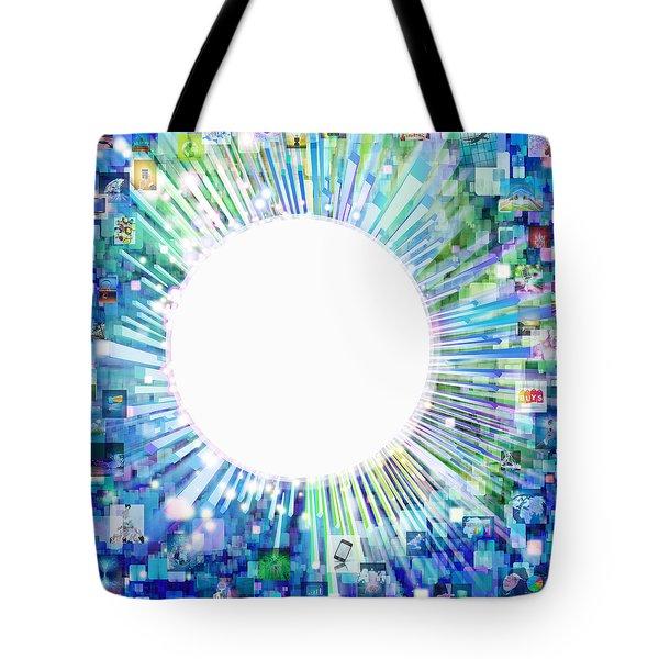 multimedia screen and graphic design Tote Bag by Setsiri Silapasuwanchai