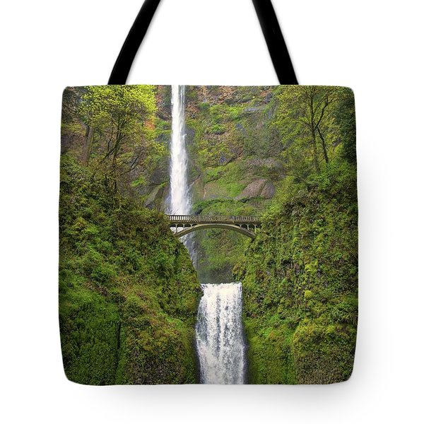 Multnomah Falls Tote Bag by Jon Burch Photography