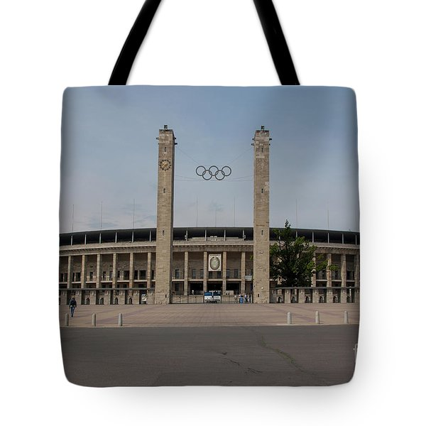 Berlin Olympic Stadium Tote Bag by Stephen Smith