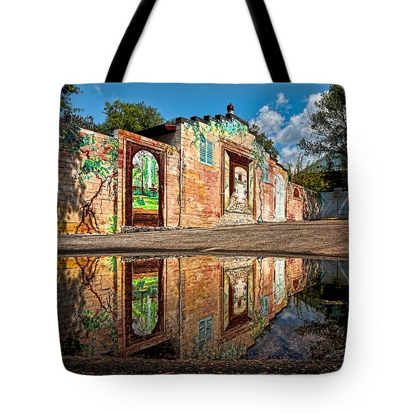 Mural Reflected Tote Bag by Christopher Holmes
