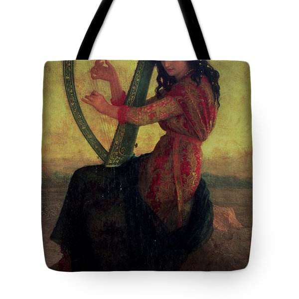 Muse Playing The Harp Tote Bag by Antoine Auguste Ernest Hebert