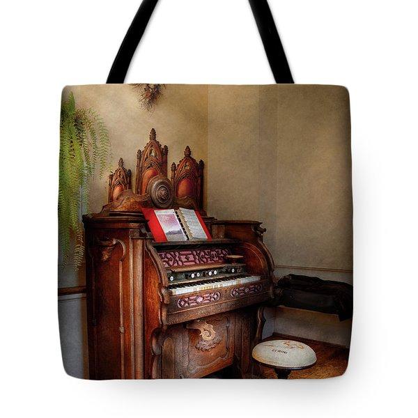 Music - Organ - Hear the Joy  Tote Bag by Mike Savad